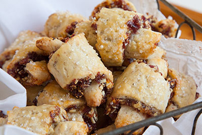 Cranberry and Orange Almond Rugelach at Odense